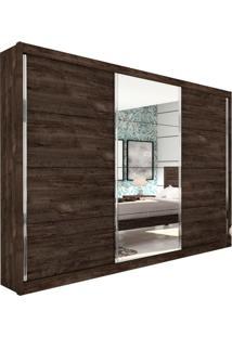 Guarda-Roupa Casal Com Espelho Los Angeles 3 Pt Cumaru Rustic