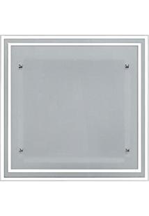 Plafon De Embutir No Gesso Para 02 Lâmpadas - 30Cm X 30Cm Branco