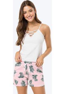 Pijama Branco Strappy