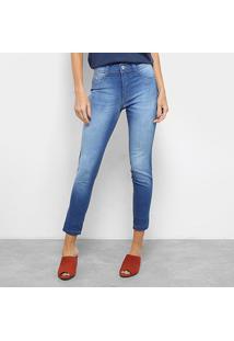bd6331254 ... Calça Jeans Skinny Cropped Biotipo Cintura Média Feminina - Feminino -Azul