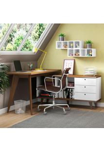 Escrivaninha Madesa Tutti Colors 3 Gavetas