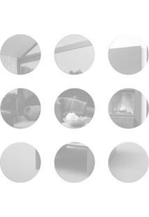 Espelho Decorativo Mini Círculos 9 Peças 16,5 Cm Cada