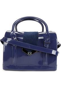 Bolsa Petite Jolie Bloom Bag Feminina - Feminino-Azul Navy