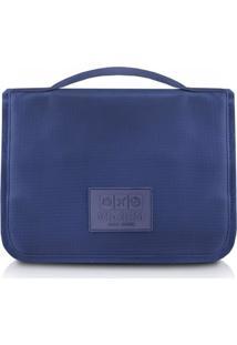 Necessaire De Viagem Com Gancho De Poliéster Jacki Design Viagem Azul Marinho