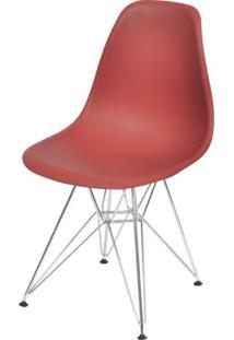 Cadeira Eames Polipropileno Vinho Base Cromada - 43032 - Sun House