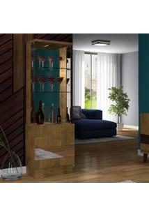 Cristaleira Com Espelho 2 Portas Com Led New Vina Dj Móveis Demolição