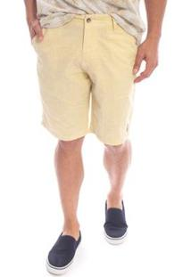 Bermuda Aleatory Sarja Soft Masculino - Masculino-Amarelo