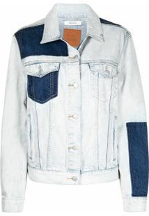 Remain Jaqueta Jeans Com Patch - Azul