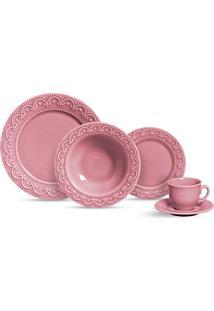 Aparelho De Jantar 20 Peças Princess - Scalla - Rosa