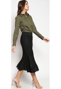 Camisa Texturizada Com Bolso - Verde Militarvip Reserva