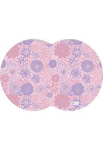 Tapete Pet Mdecore Geométrico Floral Rosa 54X39Cm