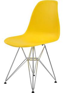 Cadeira Eames Eiffel Pp Amarelo Base Cromada - 44165 Sun House