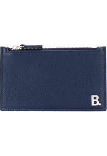 Balenciaga Carteira Com Placa De Logo B - Azul