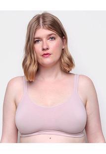 Sutiã Liz Com Bojo Sutop Liso-81822 - Feminino-Nude