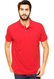 Camisa Polo Richards Bordado Vermelha