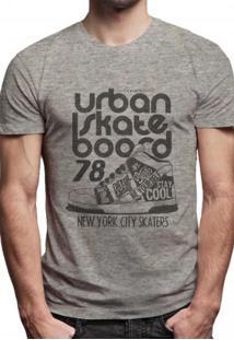 Camiseta Masculina Joss Premium Urban Skate Cinza