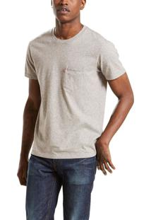 Camiseta Levis Sunset Pocket Cinza