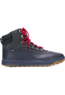 Polo Ralph Lauren Ankle Boot De Couro - Azul