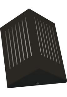 Arandela Triangular Com Rasgo Horizontal 6134 12X09X23 1 Lâmpada Preto Pantoja&Carmona