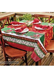 Toalha De Mesa Estampada Natal- Verde & Vermelha- 14Lepper