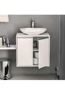 Armário De Banheiro Una 2 Portas Branco - Politorno