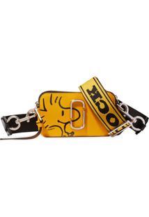 Marc Jacobs Bolsa Transversal X Peanuts The Snapshot - Amarelo