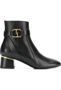 Tod'S Ankle Boot De Couro - Preto