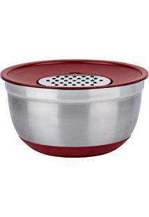 Conjunto De Bowls Com Ralador 3 Em 1 German - Euro Home - Vermelho