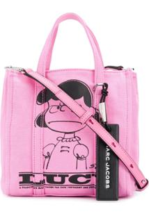 Marc Jacobs Peanuts® X Marc Jacobs The Tag Tote With Lucy - Rosa