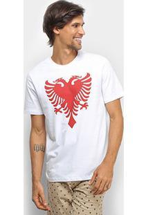 Camiseta Cavalera T Shirt Águia Colors Masculina - Masculino-Branco+Vermelho