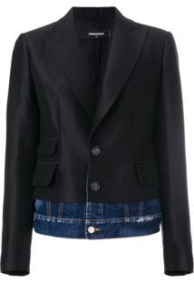 Dsquared2 Blazer 'Giacca' Com Sobreposição Jeans - Preto