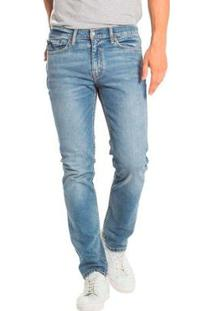 Calça Jeans Levis 511 Slim Lavagem Média Masculina - Masculino-Azul