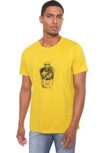 Camiseta Colcci Arrested Paradise Amarela