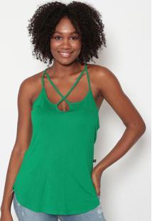 Blusa Com Tiras Transpassadas- Verde- Tritontriton