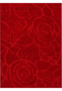 Tapete Jazz Rosa- Vermelho- 150X100Cm- Oasisoasis