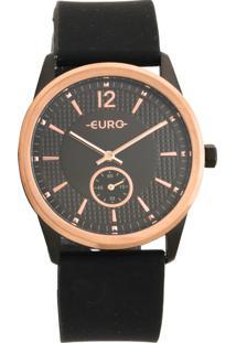 Relógio Euro Eu1L45Ab/8P Preto/Rosê