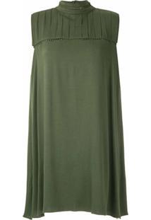 Olympiah Vestido Curto Hagia - Verde