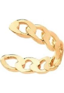 Brinco Piercing Mini Elos Dourados Banhado A Ouro 18K - Tricae