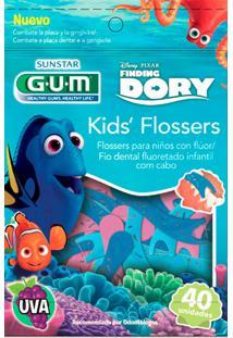Fio Dental Kids Gum Flossers Dory 40 Unidades