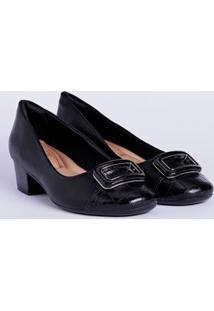 Sapato De Salto Feminino Comfortflex Preto