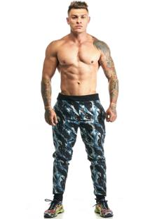 Calça Moletom Hardcore Line Skinny Militar