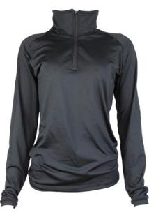 Camisa Térmica Feminina Segunda Pele Meio Zíper Thermo Premium - Feminino