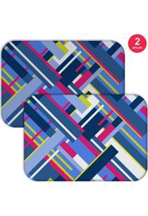 Jogo Americano Love Decor Geometric Shapes Azul