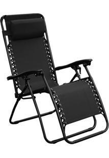 Cadeira Outdoor Equilibrium Preta Rivatti