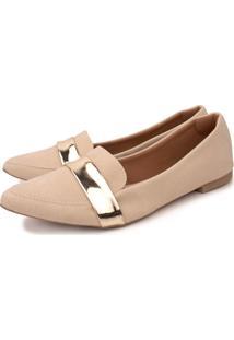 Sapatilha Trivalle Shoes Nude/Dourado