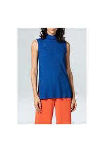 Blusa Osklen Fem Mc Knit Fluid-Azul