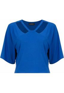 Olympiah Top Cropped 'Camino' - Azul
