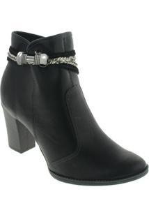 Bota Ankle Boots Mississipi Feminina - Feminino-Preto