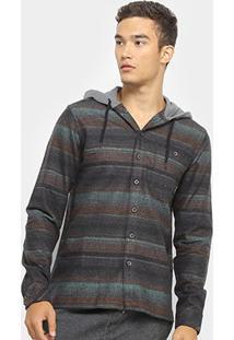 Camisa Billabong Baja Flannel Manga Longa Masculina - Masculino
