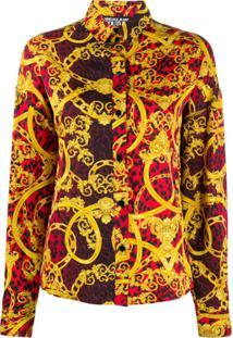 Versace Jeans Couture Jaqueta Com Estampa De Leopardo Barroco - Vermelho